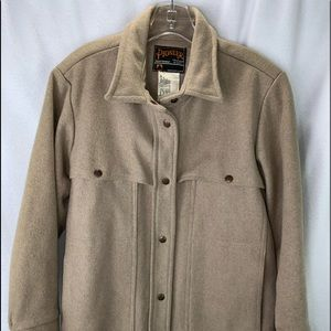 Pioneer Sportswear Men's Jacket Sz M Tan Wool Mack